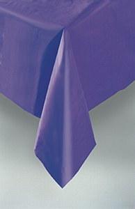 Deep Purple Plastic Tablecover