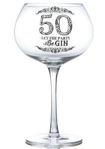 50th Gin Glass