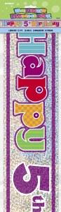 5th Birthday Banner