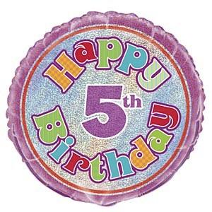5th Birthday Foil Balloon