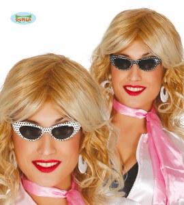 60's Polka Dot Glasses White