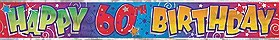 60th Birthday Foil Banner