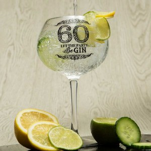 60th Gin Glass