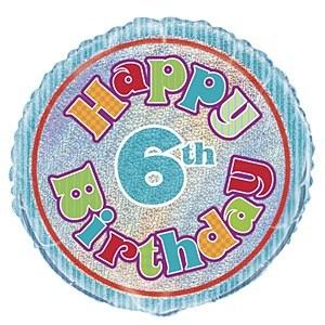 6th Birthday Foil Balloon