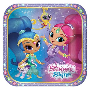 "7"" Shimmer and Shine Plates"