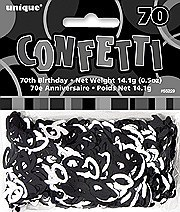 70th Black Confetti