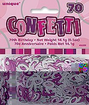 70th Pink Confetti