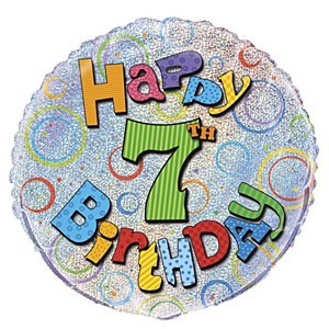 7th Birthday Foil Balloon