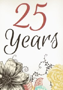 4PK Anniversary Yrs Wine Label