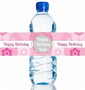 4PK Birthday Girl Bottle Label