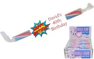 Birthday Man Candy Rock