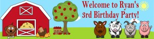 Farm Animals Banner
