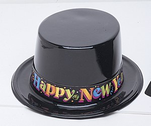 Happy New Year Top Hat