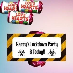 9PK Lockdown Loveheart Sweets