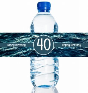 4PK Ocean Bday Bottle Labels