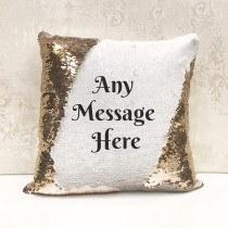 Any Text Sequin Cushion
