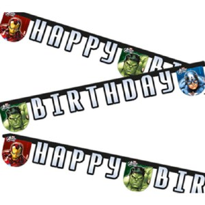Avengers Power Birthday Banner