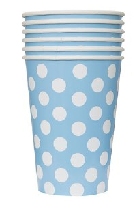 Baby Blue Dots Paper Cups