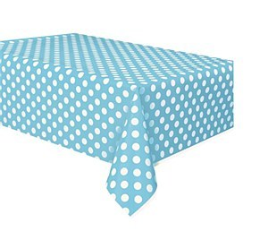 Baby Blue Dots Table Cover