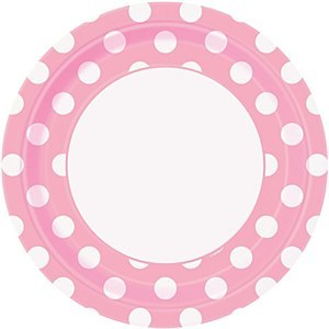 Baby Pink Dots Paper Plates