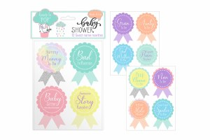 Baby Shower Guest Stickers