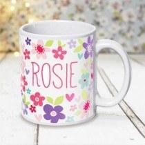 Beautiful Colourful Flower Mug