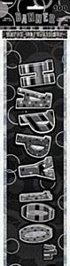 Black 100th Birthday Banner