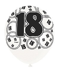 Black 18th Birthday Balloons
