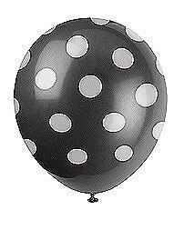 Black Dots Helium Balloons