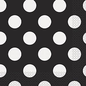 Black Dots Paper Napkins