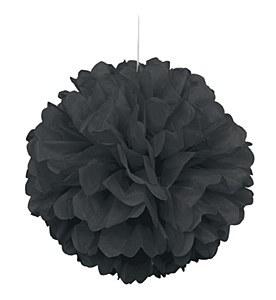 Black Puff Ball Decoration