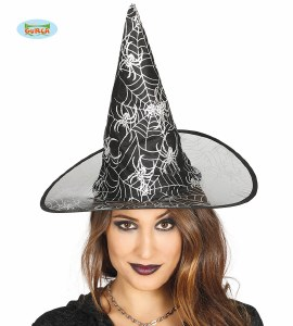 Black Web Witches Hat