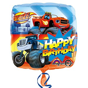 Blaze Foil Birthday Balloon