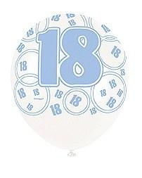 Blue 18th Birthday Balloons
