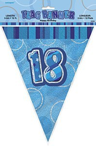 Blue 18th Birthday Bunting