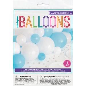 Blue Gingham Balloon Kit