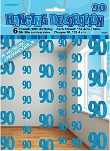 Blue 90th Birthday Decoration