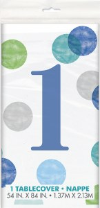 Blue 1st Dots Tablecover