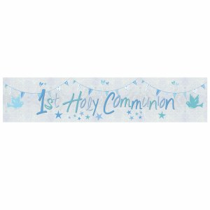 Blue Church Communion Banner