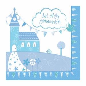 Blue Church Communion Napkin