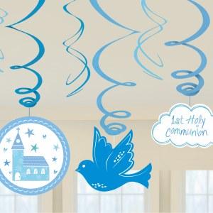Blue Communion Swirls