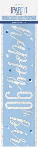 Blue Dots Glitz 90th Banner