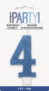 Blue Glitter No4 Candle