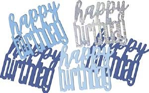 Blue Glitz Birthday Confetti