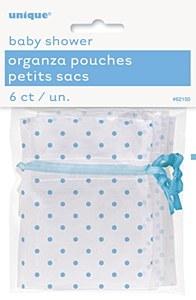 Blue Organza Pouches