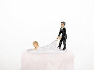 Bride Lying Cake Topper