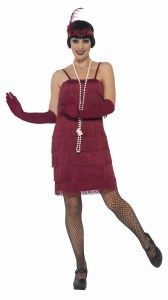 Burgundy Flapper Costume