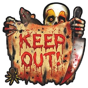 Carnival Keep Out Cut Out