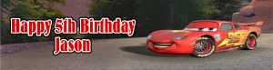 Cars Birthday Banner