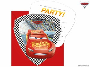 Cars 3 Party Invitations